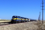 ICE 6076 leads ethanol empties westbound 